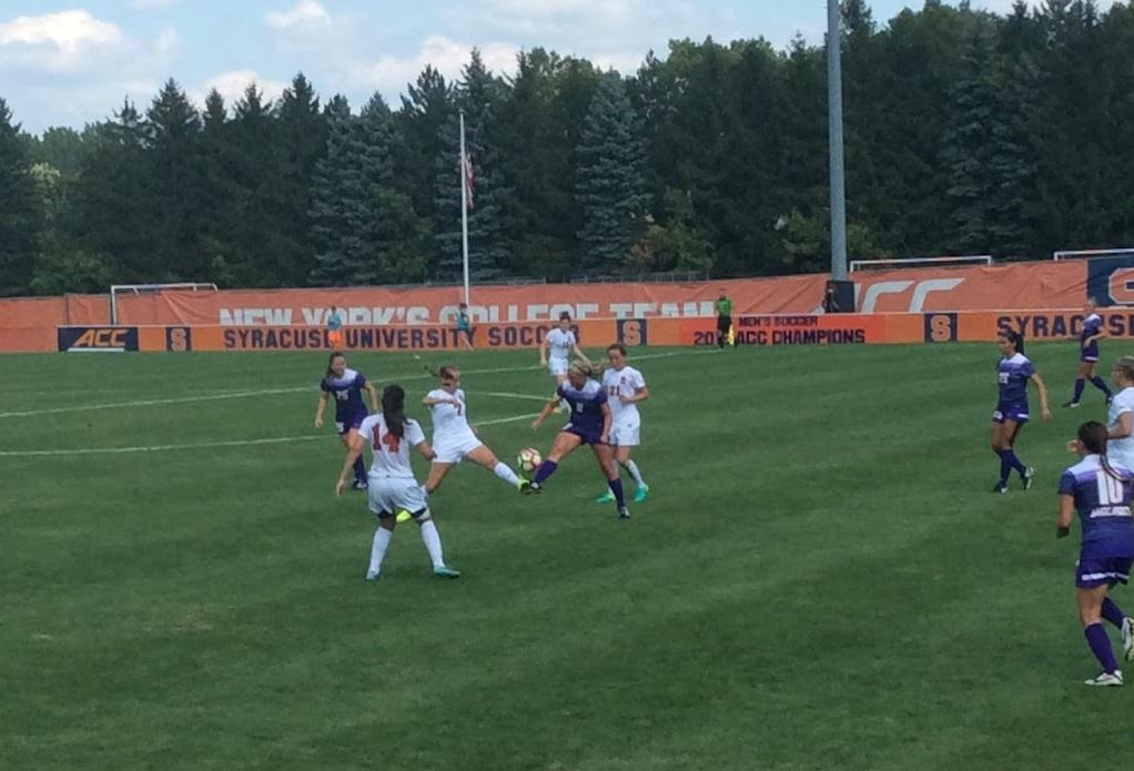 Syracuse Women's Soccer Defeats Albany Great Danes