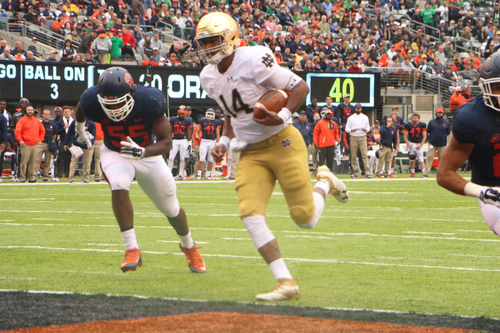 ND Uses Big Plays to Down Orange, 50-33