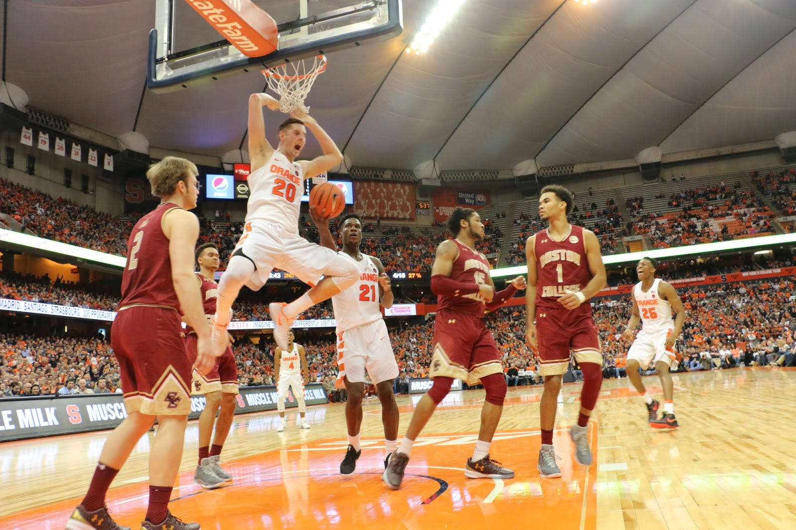 Orange Men Get Back at BC in Dome Blowout
