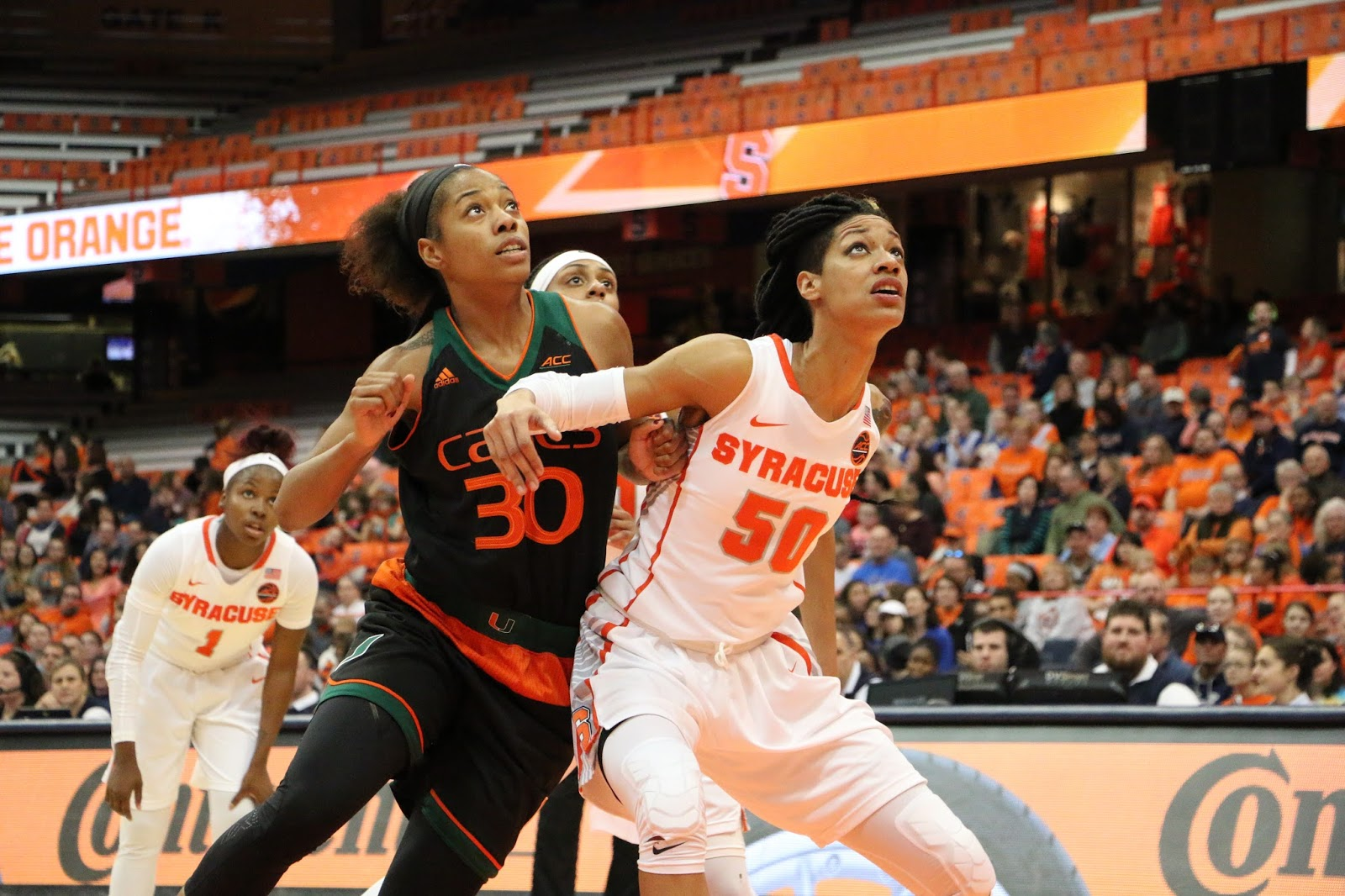 Orange Women Blow Out No. 14 'Canes