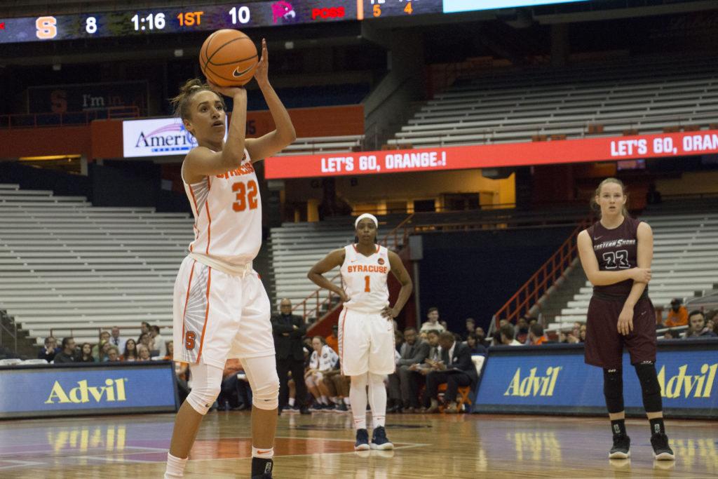Syracuse Battles to 68-45 Win Over Hawks