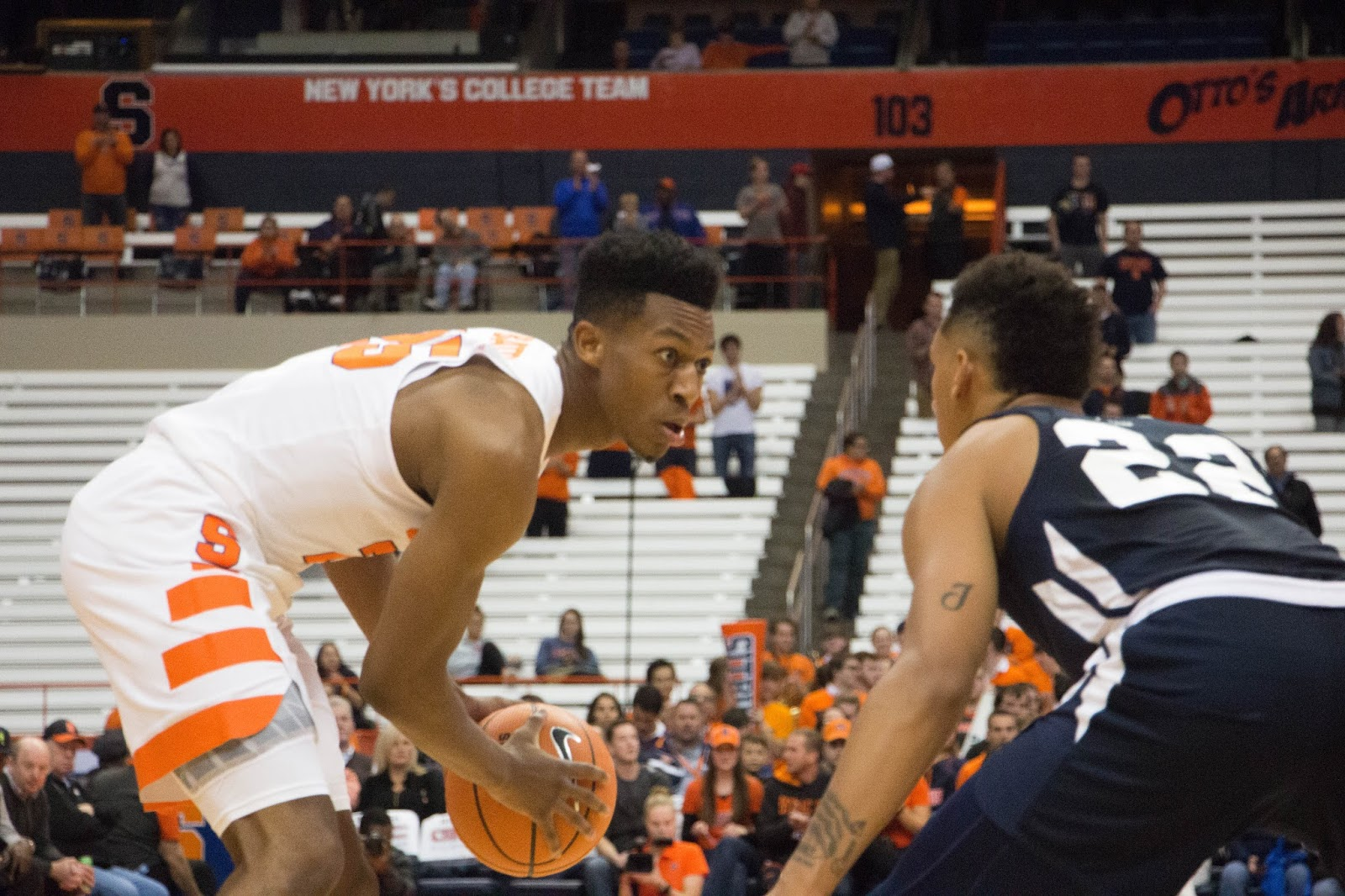 Orange Men Use Strong Second Half to Take Care of Owls