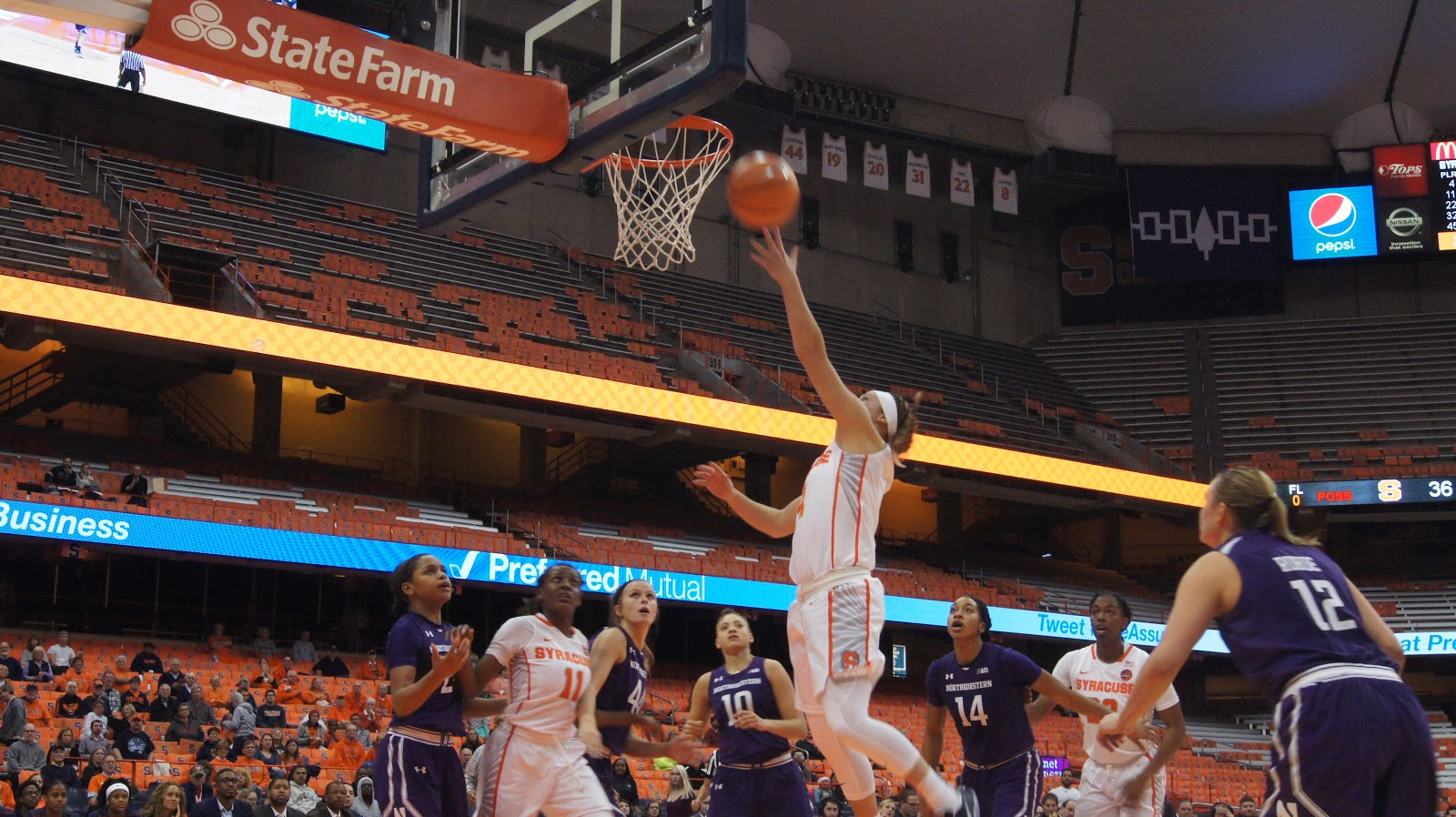 Orange Women Hold Off Wildcats, Stay Unbeaten