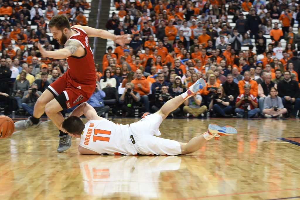 Orange Fall and Foul Against the Wolfpack